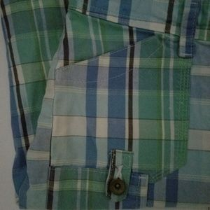Lee Shorts - Lee One True Fit Bermuda Shorts Blue Plaid Size 8